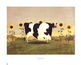 Cow With Sunflowers