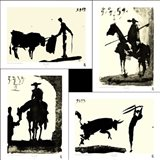 Picasso's Bullfight Set (set of four prints each 14.5 x 19.5)