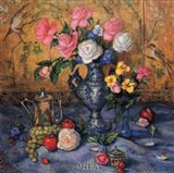 Roses with Blue Vase