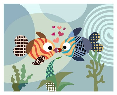 Love Fish Poster by Lanre Adefioye for $72.50 CAD