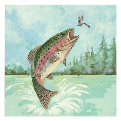 Trout Jumping Poster by Anita Phillips for $58.75 CAD
