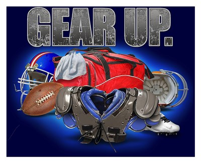Gear Up Football Poster by Jim Baldwin for $72.50 CAD