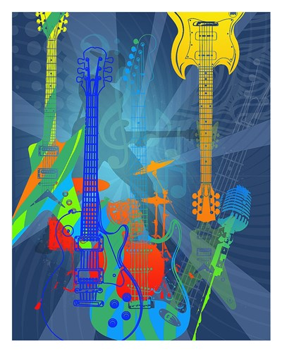 Guitars Poster by Jim Baldwin for $62.50 CAD
