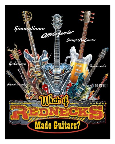 Redneck Guitar Poster by Jim Baldwin for $62.50 CAD