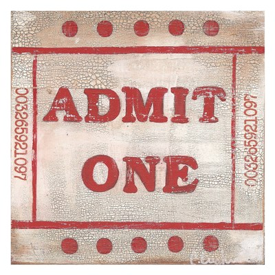 Admit One Poster by Cassandra Cushman for $58.75 CAD