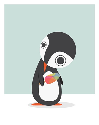 Pingu Loves Ice Cream Poster by Volkan Dalyan for $58.75 CAD