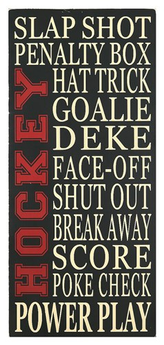 Hockey Poster by Erin Deranja for $66.25 CAD