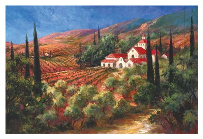 Tuscan Monastery Poster by Art Fronckowiak for $85.00 CAD