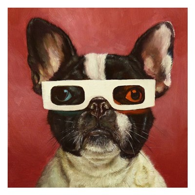 3D Dog Poster by Lucia Heffernan for $58.75 CAD