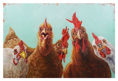 Chicken for Dinner Poster by Lucia Heffernan for $85.00 CAD