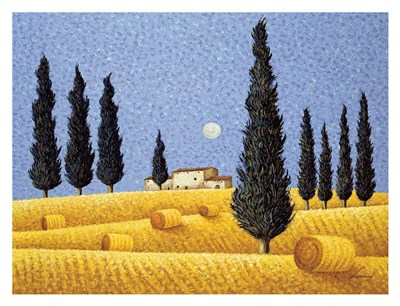 Cypress and Hay Poster by Lowell Herrero for $78.75 CAD