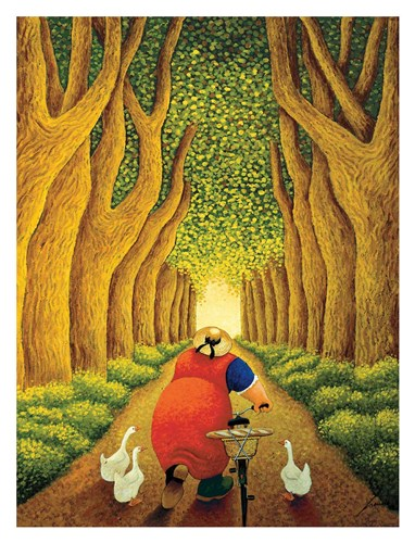 Home from the Market Poster by Lowell Herrero for $78.75 CAD