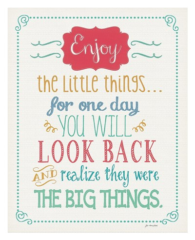Enjoy Little Things Poster by Jo Moulton for $72.50 CAD