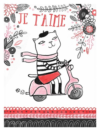 Cats of Paris - Scooter Poster by Lauren Lowen for $78.75 CAD