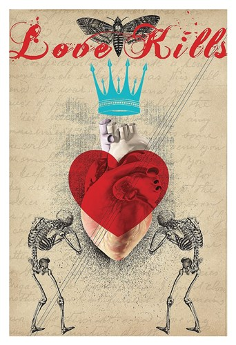 Love Kills Poster by Elo Marc for $85.00 CAD