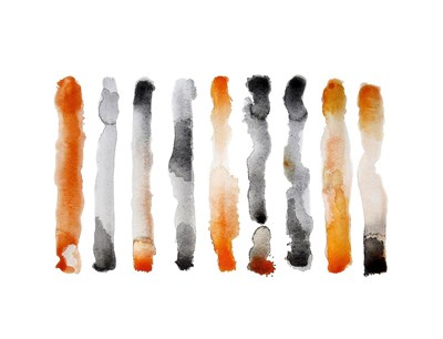 Orange and Black Poster by Nancy LaBerge Muren for $78.75 CAD
