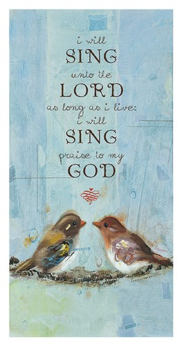 I Will Sing Poster by Ninalee Irani for $65.00 CAD