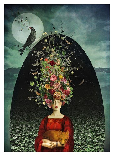 Ballad of the Two Moons Poster by Marta Orlowska for $88.75 CAD