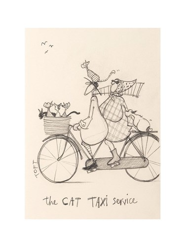 The Cat Taxi Poster by Sam Toft for $23.75 CAD