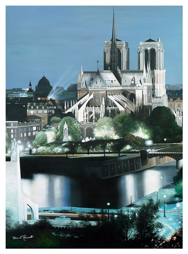 Notre Dame Poster by Diane Romanello for $137.50 CAD