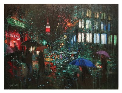Night Rain in NY Poster by Chin H. Shin for $78.75 CAD