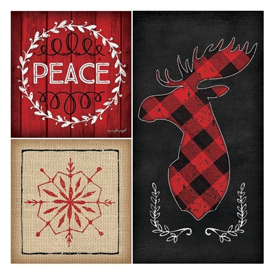 Plaid Christmas IV Poster by Jennifer Pugh for $58.75 CAD