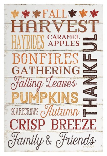 Thankful Poster by Jennifer Pugh for $85.00 CAD