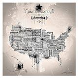 USA Map IVORY
