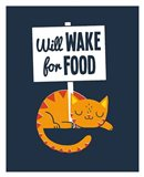 Will Wake for Food
