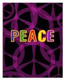 Peace (magenta/black)