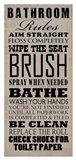 Bathroom Rules