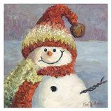 Red Heart Snowman