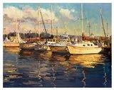 Boats on Glassy Harbor