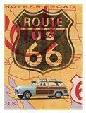 Route 66 Vintage Postcard