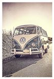 Surfers' Vintage VW Bus