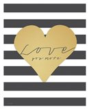 Faux Gold Love You More - Stripes