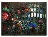 Night Rain in NY