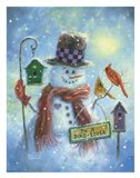Birds Lover Snowman