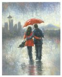 Seattle Lovers in the Rain