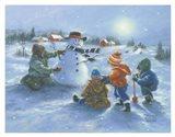 Snowman & 4 Boys