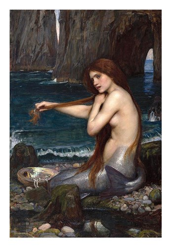 Mermaid Poster by John William Waterhouse for $42.50 CAD