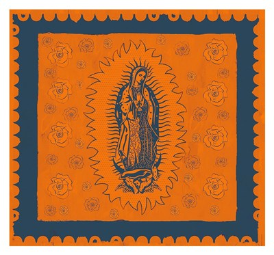 Orange and Blue Mary Poster by Marta Wiley for $75.00 CAD