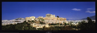 Acropolis, Athens, Greece Poster by Sekai Bunka for $31.25 CAD