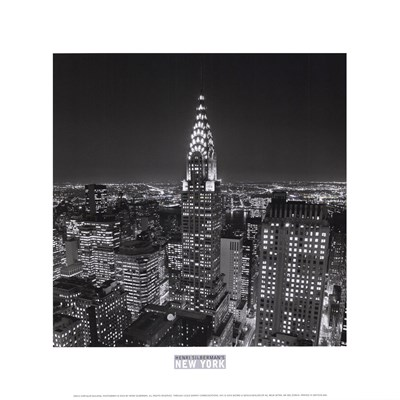 New York, New York, Chrysler Building at Night Poster by Henri Silberman for $10.00 CAD