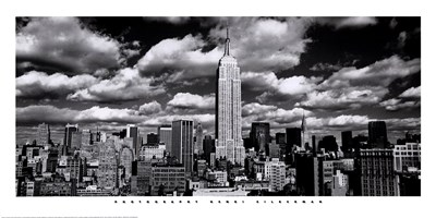 New York, New York, Clouds Over Manhattan Poster by Henri Silberman for $41.25 CAD