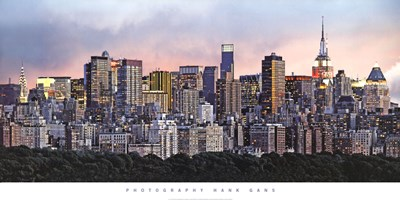 New York Skyline Poster by Hank Gans for $41.25 CAD