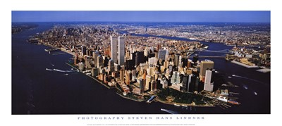 Aerial View of Manhattan Poster by Steven Hans Lindner for $13.75 CAD