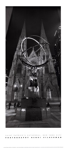 Saint Patrick's Cathedral, NYC Poster by Henri Silberman for $13.75 CAD