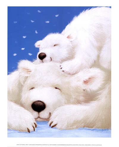 Fluffy Bears II Poster by Alison Edgson for $8.75 CAD