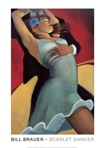 Scarlet Dancer Poster by Bill Brauer for $11.25 CAD